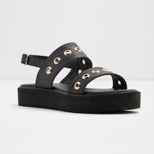 ALDO Urarandra Black Flat Sandal